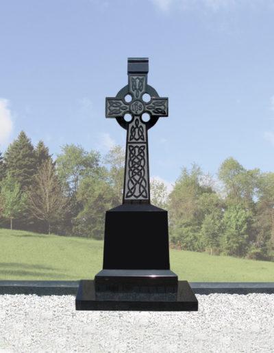 Deansgrange Shanganagh headstone memorials Black-Celtic-Cross-1