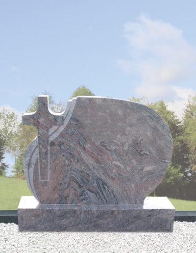 Deansgrange Shanganagh headstone memorials Cross-on-Rug-Ball-1