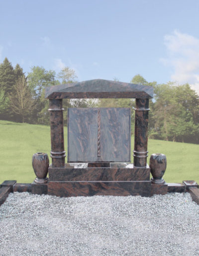 Deansgrange Shanganagh headstone memorials House-with-R-Pillars-1
