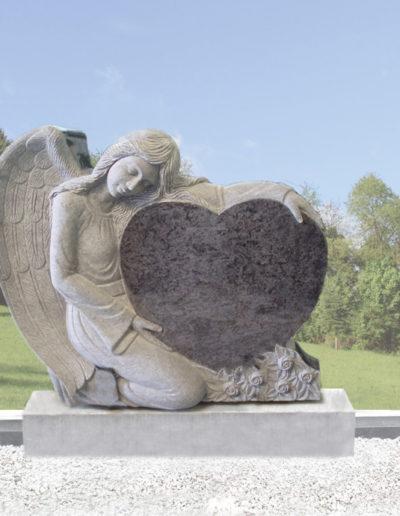 Deansgrange Shanganagh headstone memorials angel-1