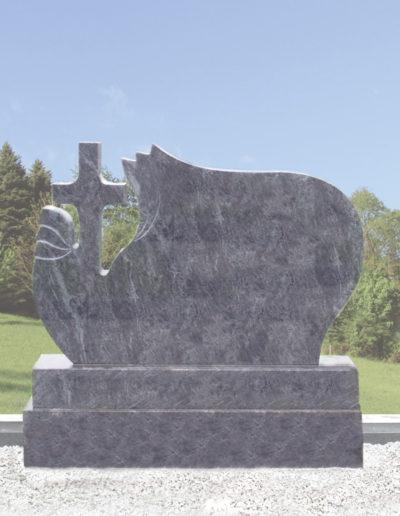 Deansgrange Shanganagh headstone memorials flamed-cross-1
