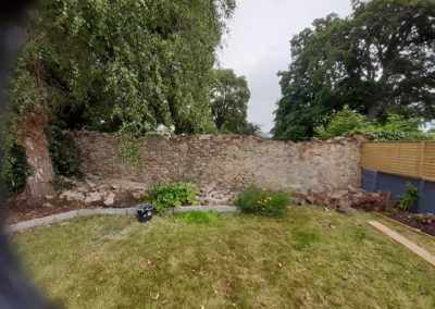Deansgrange Stone Wall before