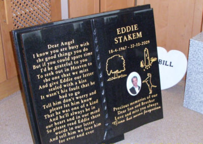 Deansgrange cemetery plaques books vases (1)