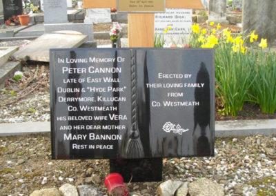 Deansgrange cemetery plaques books vases (8)