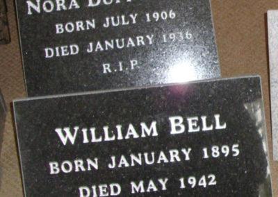 Deansgrange cemetery plaques books vases (9)